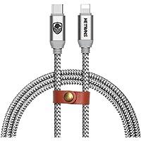 Type C Lightning ケーブル PD(Power Delivery)対応 Metrans Type C Lightning 変換ケーブル 高耐久 2.1A急速充電 高速データ転送 新しいMacbook/iPhone X/XS/XS MAX/XR / 8 / 8 Plus/iPad/iPod などに対応 银白色 (2M)