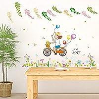 Hnzyf自転車の女の子のベッドサイドポーチソファバスルームTVコーナーの背景装飾的な壁のステッカー50cm * 70cm