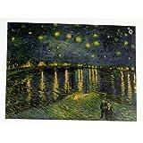 ポスター ゴッホ ローヌ川の星月夜 星月夜 36×47cm 星降る夜 MAG07