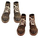 ボエモス BOEMOS メンズ シューズ 靴 ブーツ ウィングチップ スエード レザー カーキ/ブラウン サイズ:40/41 (boemos-4270204) (41, ブラウン)