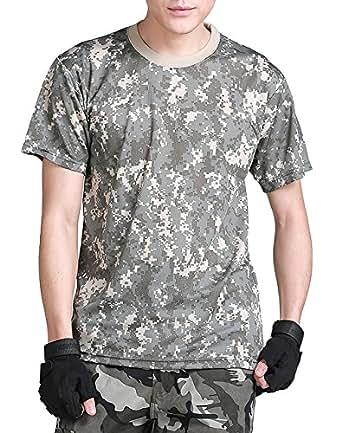 (ガンフリーク) GUN FREAK 迷彩柄 半袖 Tシャツ タクティカル ストレッチ メッシュ サバゲー ( ACU 迷彩 , L )