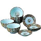 食器セット : 錦古伊万里 皿鉢 セット Japanese Bowl x5pcs and Plate x5pcs set Porcelain/Size(cm) Φ12x5.6, Φ11.3x2/No:099994