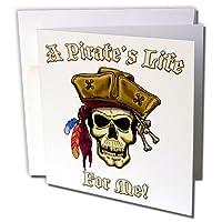 ジャックのArts Pirates–Pirate Skull with a Pirate S Life For Me–グリーティングカード Set of 12 Greeting Cards