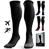 Compression Socks for Men & Women (20-30 mmHg) - Anti DVT Stockings - Swollen Legs - Varicose Veins - Edema - Running - Sports - Nurses - Shin Splints Calf Pressure Support - Pregnancy - Blood Circulation - Flight Travel - L/XL