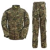 戦闘服 BDU 迷彩服上下セット マルチカム XL ウェストサイズ:90-94cm