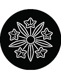 家紋シール 総陰竜胆車紋 布タイプ 直径40mm 6枚セット NS4-2135