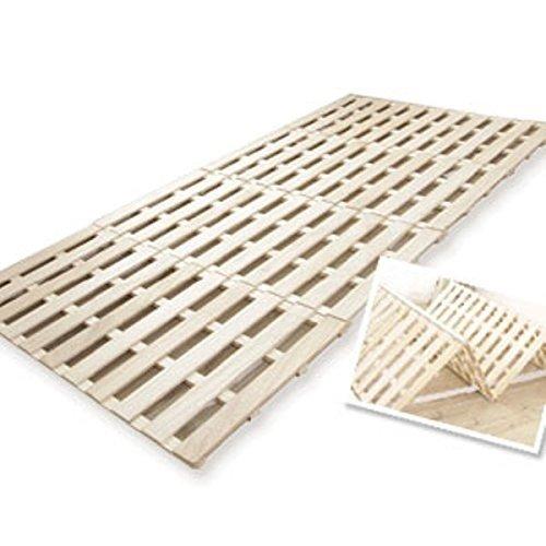 4つ折りすのこベッド セミダブル