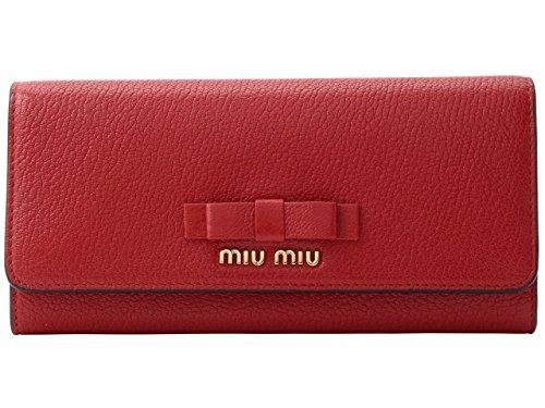 (ミュウミュウ) MIUMIU 財布 長財布 二つ折り パスケース レザー MADRAS リボン 5MH109 [並行輸入品]