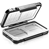 Neewer 14 Slots Memory Card Case Holder, Durable Waterproof Anti-Shock Storage Protector Card Box for 10 Micro SD Cards/10 TF Cards/2 CF Cards and 4 SD Cards/4 XD Cards/2 CF Cards (Black)