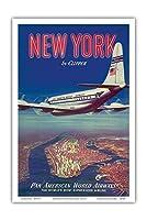 - ビンテージな航空会社のポスター c.1950 - アートポスター - 31cm x 46cm