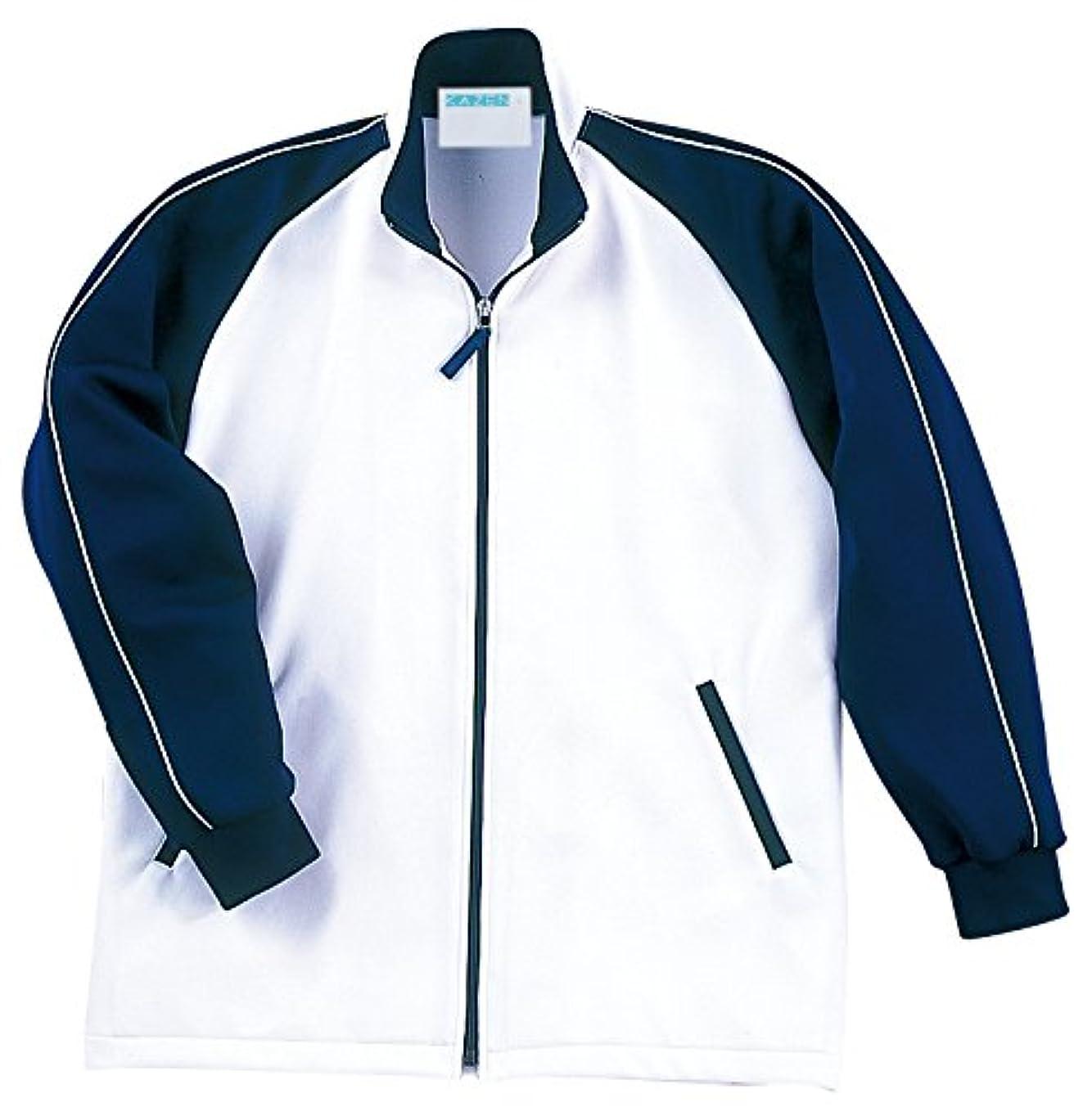 しかしながらやむを得ないプロポーショナル介護ユニフォーム ジャージ KAZEN  ケアジャケット ネイビー 242-11 M