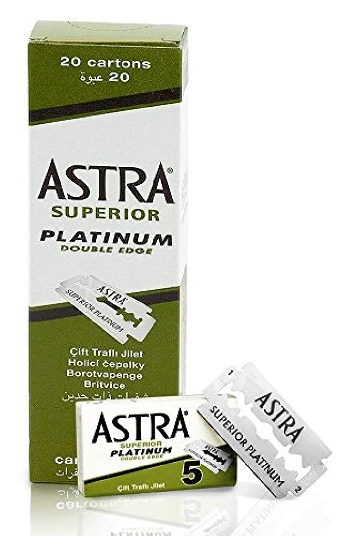 タクト運搬人柄ASTRA Superior Platinum 両刃替刃 100枚入り(5枚入り20 個セット)【並行輸入品】