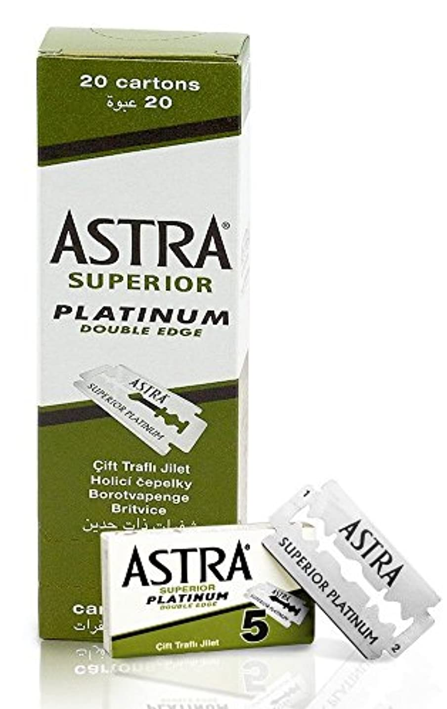 現代バクテリア湾ASTRA Superior Platinum 両刃替刃 100枚入り(5枚入り20 個セット)【並行輸入品】