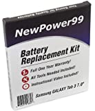 Samsung GALAXY Tab 3 7.0 GT-P3200, GT-P3210, GT-P3220, SM-T210, SM-T211 シリーズ用バッテリー交換キット 取り付け説明ビデオ、ツール、長寿命バッテリー付き
