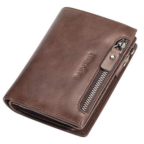 Mandiva 財布 小銭入れ メンズ 本革 コインケース (ブラウン)