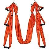 Fitness Equipment 1.5x2.5m Yoga Inverted Tool AntiGravity Hammock Swing Fabric Swing Orange, L,Fitness Equipment