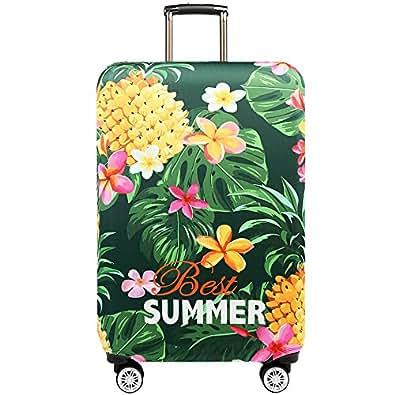 Youth Union スーツケースカバー 伸縮素材 欧米風 キャリーバッグ お荷物カバー (S(18-21 inch luggage), Best Summer)