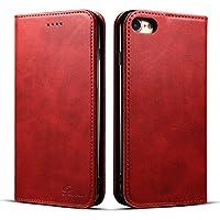 iPhone 7 ケース 手帳型 iphone 8 ケース 手帳 Rssviss 耐衝撃 耐摩擦 高級PUレザー 財布型 アイフォン 8 ケース レザー カバー カード収納 マグネット スタンド機能 人気 おしゃれ [iPhone 7/iPhone 8 4.7 inch 適応] レッド