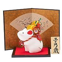 (ファンファン) 干支 置物 子 ちりめん 福小槌 ねずみ ネズミ 鼠 迎春飾り 正月飾り 子乃歳木札付き