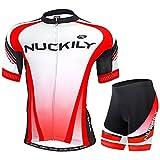 NUCKILY (サイズ:L) 夏用 春用 半袖 上下セット NUCKILY 商標登録済 サイクルウェア 6980632559203