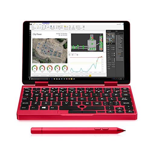One-Netbook OneMix 2S錦鯉限定版+レッドスタイラスペンセット Windows10搭載 超小型 ノートパソコン タブレットPC 2in1 PC 大幅に性能アップした2代目 7インチUMPC Intel Core m3-8100Y 8GBメモリ 512GBPCIeSSD 360度YOGAモード 2048レベル筆圧ペン レッド