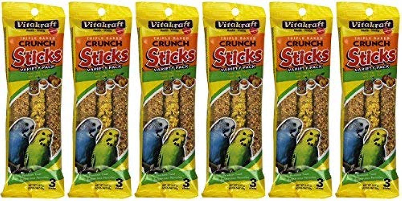 おばあさん金属頑張るVitakraft Kracker Sticks Treat Variety Pack for Parakeet (6 Packs / 3 Sticks Per Pack) [並行輸入品]