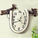 枝 デザイン 数字時計 壁時計 壁掛け 北欧 簡約 時計 おしゃれ アンティーク インテリア リビング 玄関 掛け時計 wall clock 電池式 樹脂