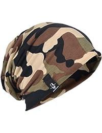 サマーニット帽 メンズ ニットキャップ 薄手 迷彩 ロングサイズ 大きめ B075