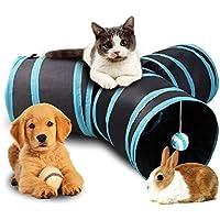 猫おもちゃ キャットトンネル 折りたたみ式 ボール付き 収納便利 知育玩具 スパイラル 運動不足 丈夫