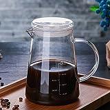 ガラスポット コーヒードリップ 耐熱ガラスポット Zyruong 透明ティーポット耐熱冷水筒 コーヒードリップ おしゃれ きれい お茶/コーヒー/ジュースー入れ可 夏アイテム 家庭料理