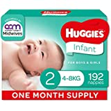 HUGGIES Ultimate Infant Nappies, Unisex, (4-8kg), Packaging May Vary, Size 2, 192 count
