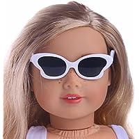 Perfk 18インチ アメリカンガール ドール 人形 メガネ 眼鏡 人形服 アクセサリー 5ペア 可愛い
