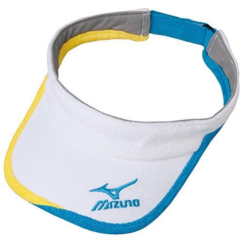(ミズノ)MIZUNO テニスウェア バイザー [UNISEX] 62JW6003 72 ホワイト×ターコイズ F -