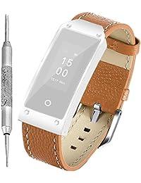 7902222974 日本正規品≫Q11V スマートウォッチ 交換用 薄型 ベルト 革製 腕時計 レザー