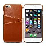 iPhone6s Plus ケース カードホルダー PUレザー 合皮 軽量 アイフォン6s プラス 5.5インチ カバー ブラウン