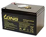 LONG 12V 12Ah 高性能シールドバッテリー【高耐久タイプ】(WP12-12E) WP12-12E