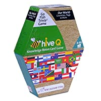 The Purple Cow Go Fish Trivia - Hive Q Card Game Countries and Flags [並行輸入品]