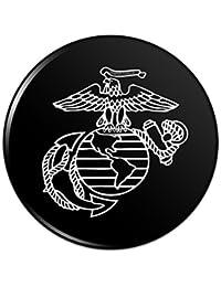 ホワイト?ブラック?イーグル?グローブ?アンカーで白USMC海兵隊のロゴ公認ピンバックボタンピンバッジ - 1