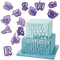 blisscomdep 40個食品グレードプラスチックAlphabets Letters Fondant with Numbers MouldセットDIYケーキ/チョコレート/砂糖菓子/クッキーカッターセット紫 パープル QP142ERNTRH33816MQ5STNLU1