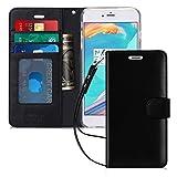 iPhone6s Plus ケース iPhone6Plus ケース,Fyy [本羊革] ハンドメイド 横開き 手帳型 二つ折り カード収納ホルダー ストラップ付き スタンド機能 保護カバー iPhone6s Plus/6 Plus兼用 ブラック