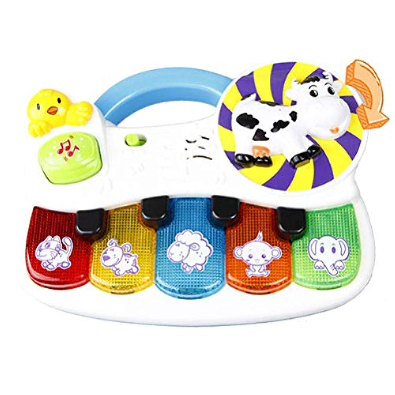 Ourine 音楽おもちゃ キーボード パーカッション コンサート 子ども キッズ 光る 楽器 知育玩具 快適 耐久性 早期教育 知能開発 子供タップピアノ 触感ゲーム 赤ちゃんy