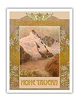 Hohe Tauern、オーストリア - グロースグロックナー - オーストリア国鉄 - ビンテージな世界旅行のポスター によって作成された グスタフ・ジャン c.1879 - アートポスター - 28cm x 36cm