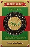 Trader Joe 'sブラウンコーンコーヒーフィルタ100pk–2パック合計200フィルタ