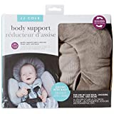 JJ Cole - Reversible Body Support, 2-Piece Insert for Car Seat and Stroller, Adjustable for Age and Season, Grey Herringbone, Birth and Up