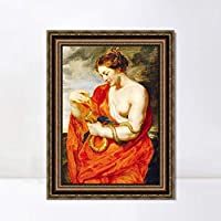 """INVIN ART Framed Canvas Art Giclee Print Series#035 by Peter Paul Rubens Wall Art Living Room Home Office Decorations(Vintage Embossed Gold frame,24""""x32"""")"""