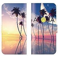 【 ankh 】 手帳型ケース 全機種対応 【 HTC J butterfly HTV31 エイチティーシーJ butterfly HTV31専用】 ハワイアン ニコちゃん ハワイ にこ プルメリア hawaii aloha ブック型 二つ折り レザー 手帳カバー スマホケース スマートフォン