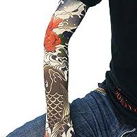 MAJESTIC タトゥー 入れ墨 和柄 アームカバー スリーブ 日焼け防止 オシャレ ワイルド 刺青