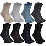 8 pairs of DIABETIC Non-Elastic Cotton Socks for SWOLLEN FEET for Mens & Womens
