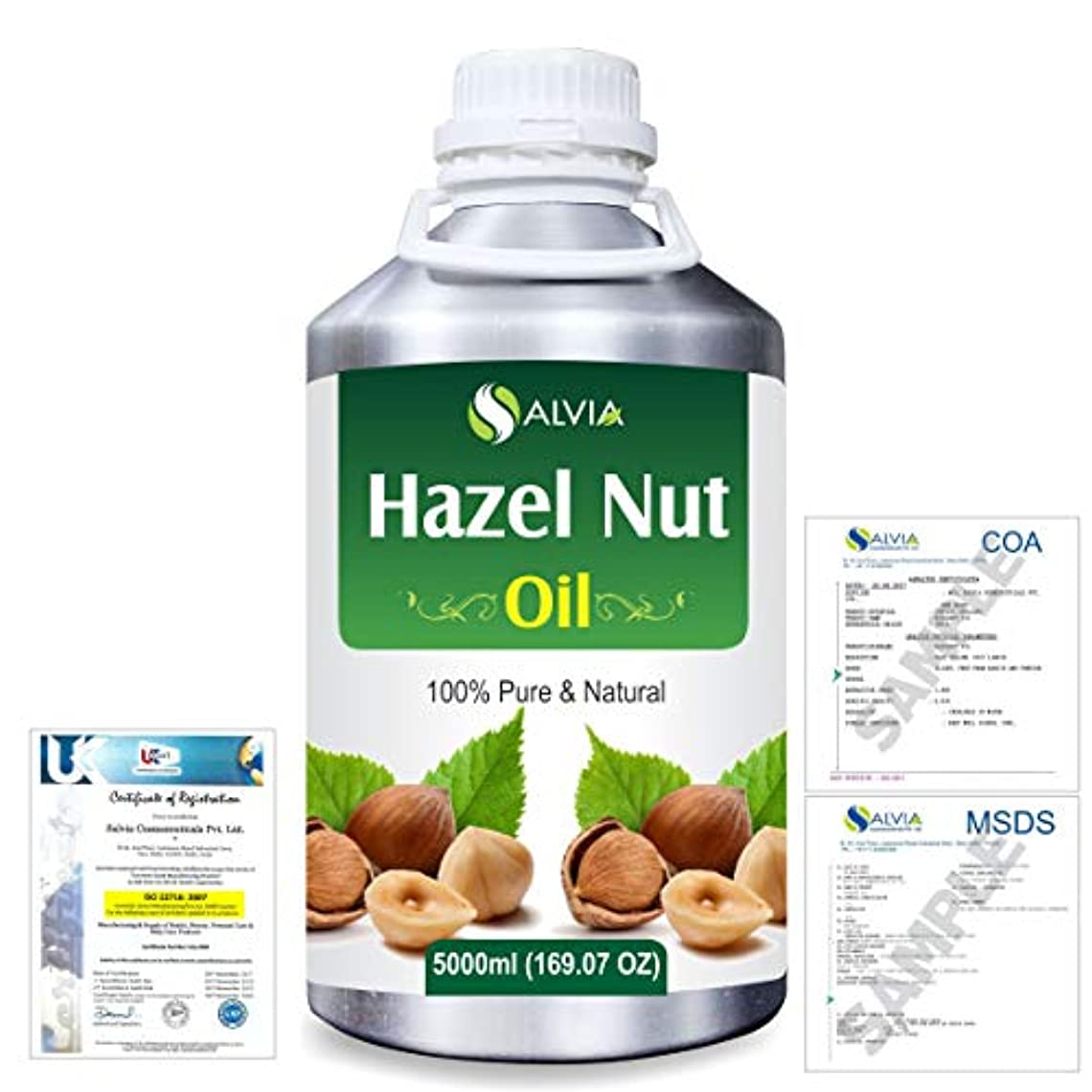 絡まる固執定義するHazel Nut (Corylus avellana) 100% Natural Pure Essential Oil 5000ml/169fl.oz.