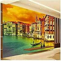 都市景観大壁画-カスタム写真壁紙壁紙ヨーロピアンスタイルのリビングルームのソファベッドルーム400cm(W)x280cm(H)